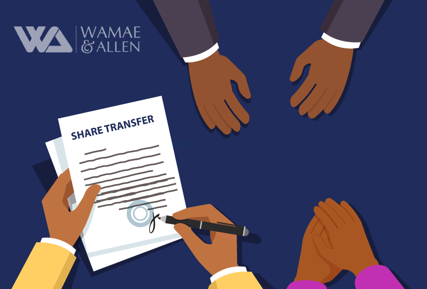 The law regarding transfer of shares by transmission